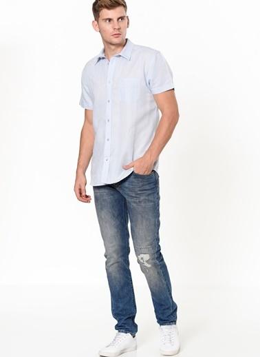 Wrangler Kısa Kollu Gömlek Mavi
